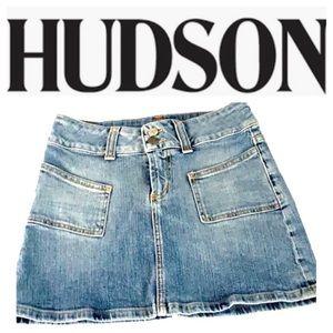Hudson Jeans Mini Jean Skirt Size 25. Like New!